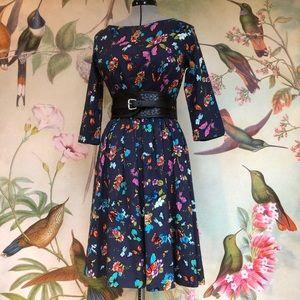 Lindy Bop Vintage style dress in butterfly print.